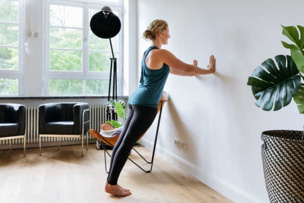 Fitness Female Sabrina Living-Room Wall Push-Up Fit-For-You Project