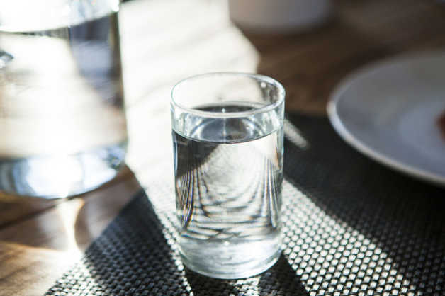 Glass of plain water