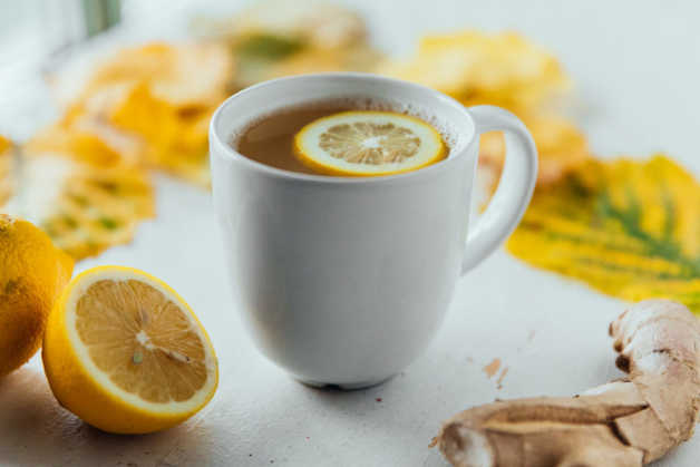 lemon ginger detox drink water elixer tonic