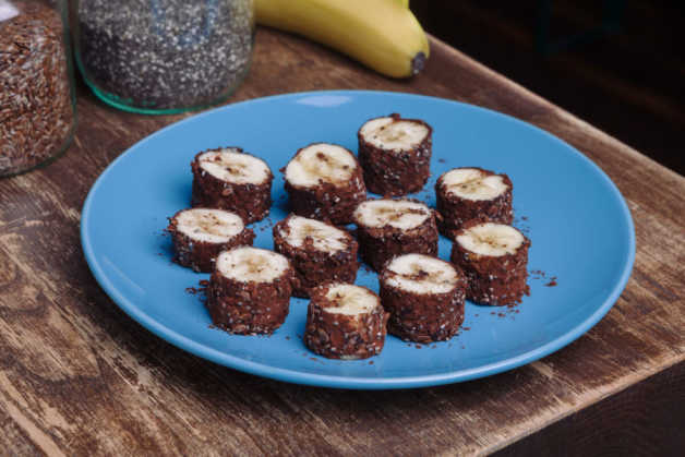 banana- breakfast sushi chocolate