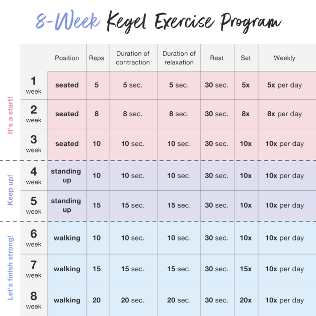 8-week kegel exercrise program