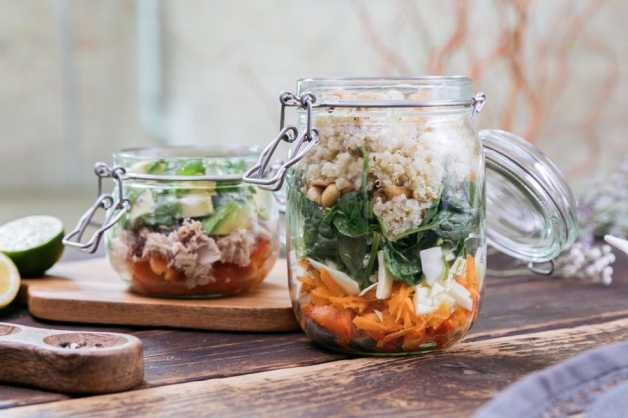 salads breakfasts JARS tuna quinoa