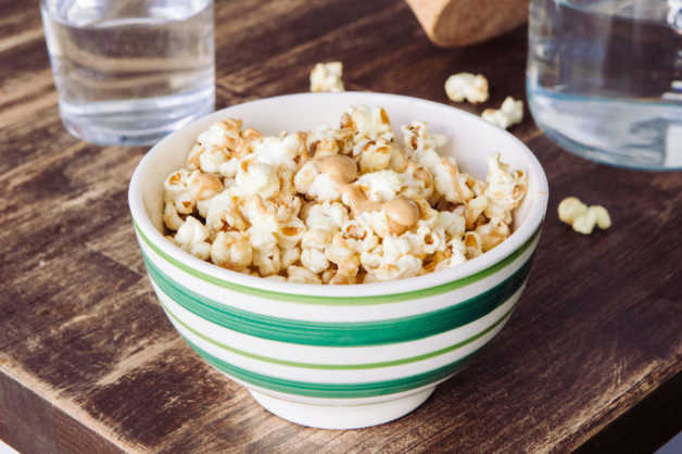 popcorn with peanut butter recipe healthy