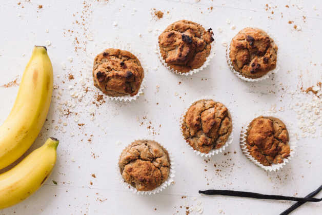 vegan-recipe-fudgy banana bean muffins-recipe