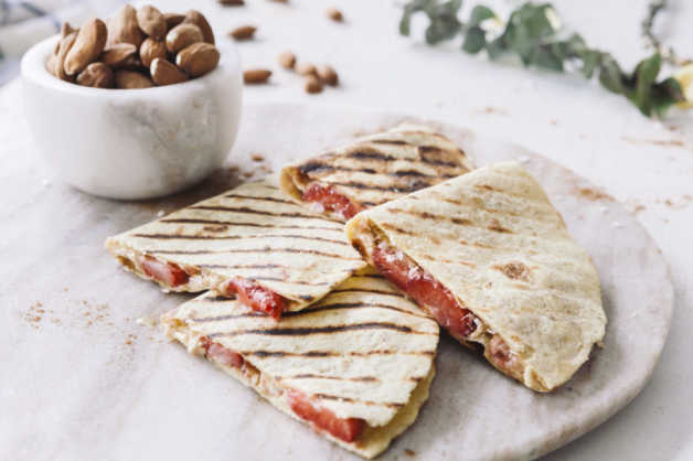 Strawberry Peanut Butter Quesadillas