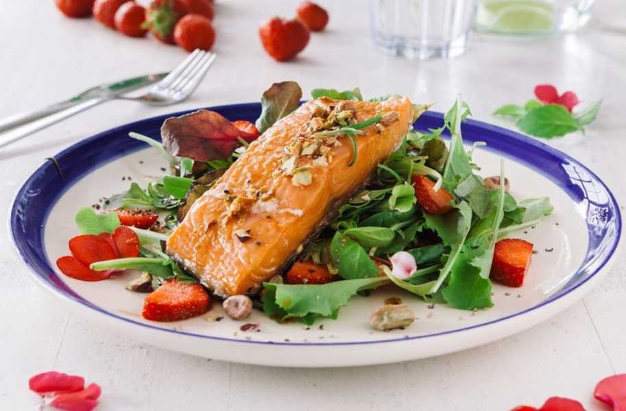 balsamic glazed salmon salad bbq recipe
