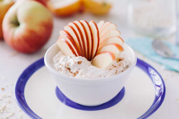 creamy oats with apple