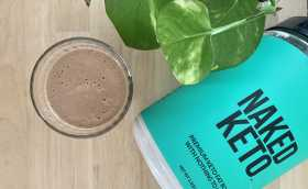 Sesame Banana Smoothie with Naked Keto