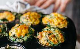 Mini Sweet Potato and Spinach Frittata