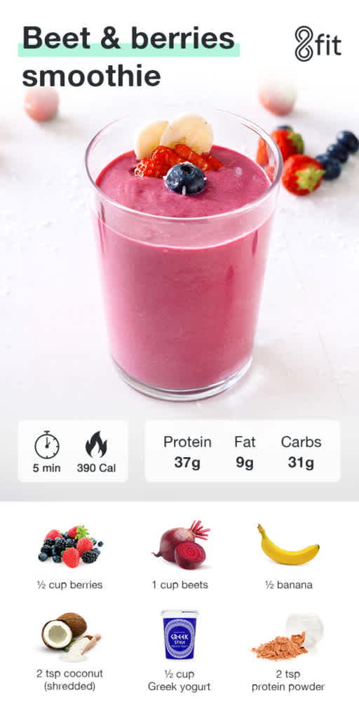 Beet & berries smoothie graphic