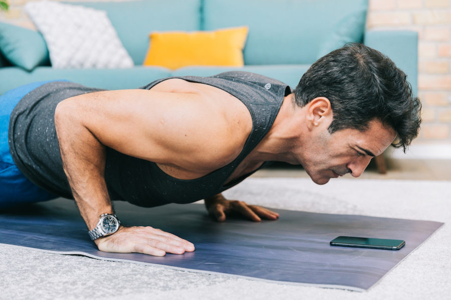 Chest workout at home with without equipment fit