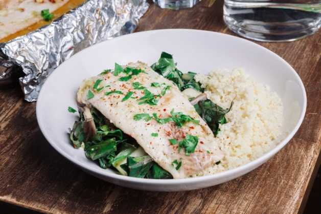 thai style steamed fish with couscous
