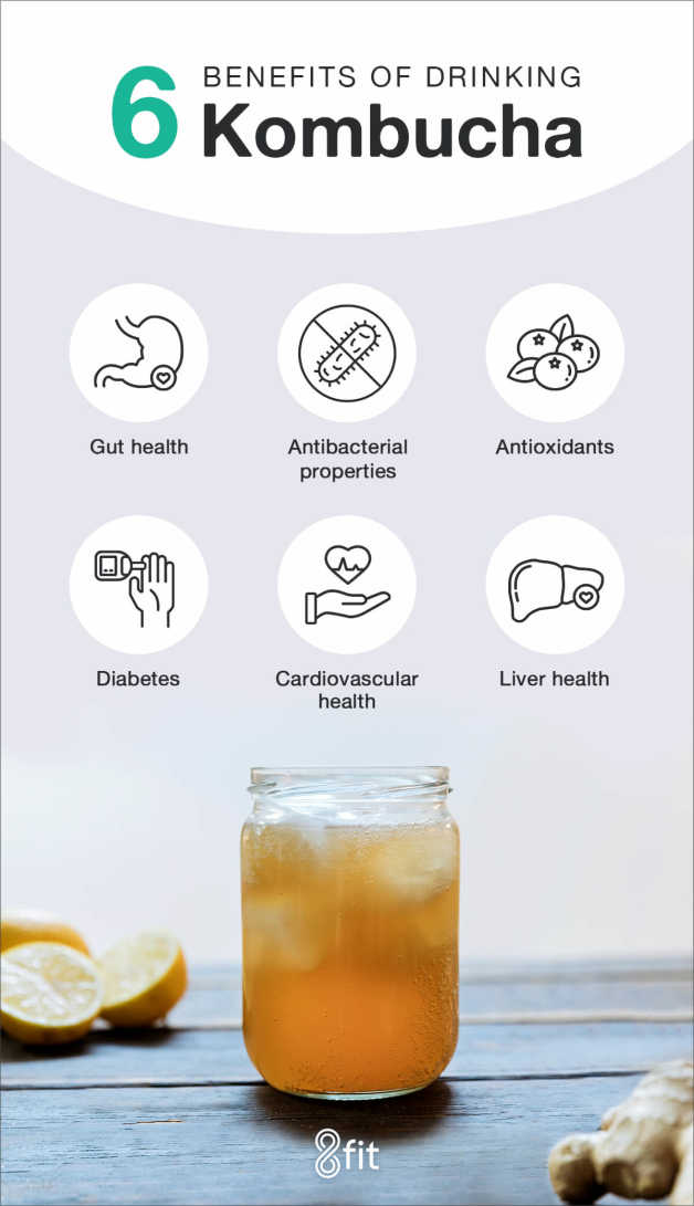 Kombucha benefits infographic