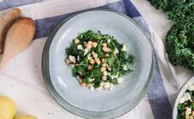 Chickpea, Feta and Kale Salad Recipe