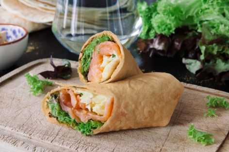 smoked salmon breakfast wrap