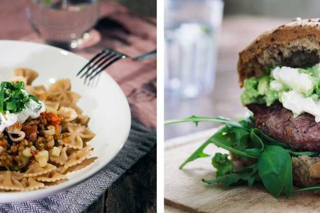 Paula's favorite 8fit meals (lentil ragout + beef and beet burger)