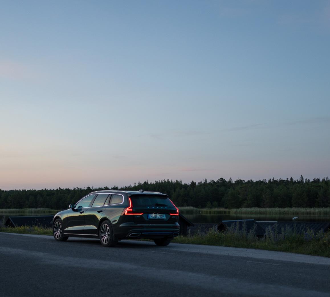 Volvobil på väg