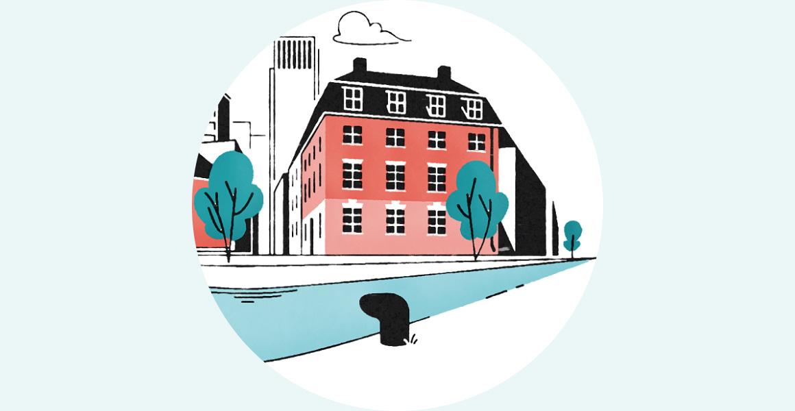 Illustration stadskvarter