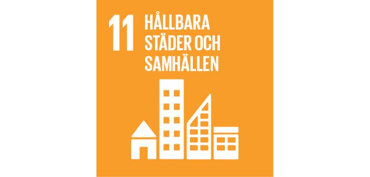 FN-mål illustration hållbara städer och samhällen