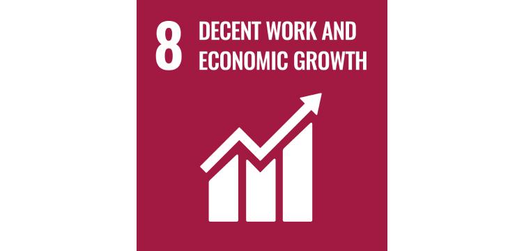 Illustration of UN Development Goal 8