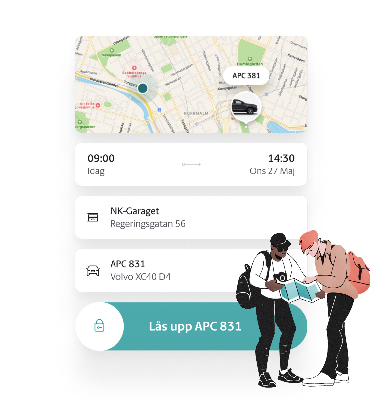 M-app nyckeldelningsfunktion
