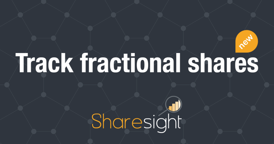 featured - Track fractional shares