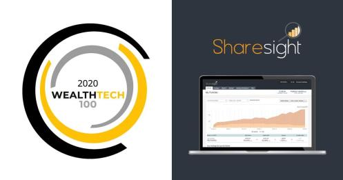 Wealthtech100 2020 List sharesight