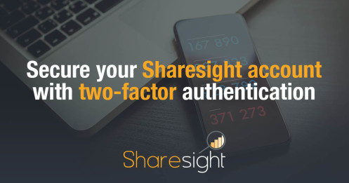 Sharesight two-factor authentication (2FA)
