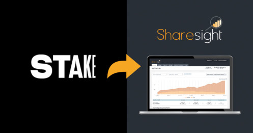 Stake shop for shares sharesight