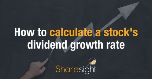 How to calculate a stock's dividend growth rate (1)