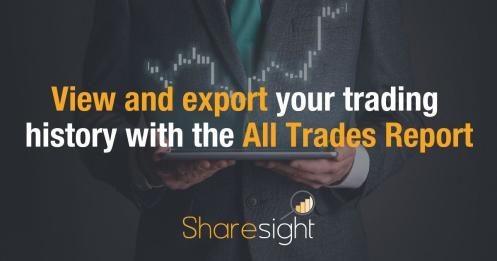 View and export trading history Sharesight All Trades Report 0