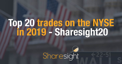 Top 20 trades on the NYSE in 2019