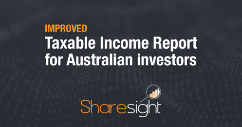 featured - improved taxable income report