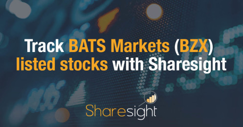 Track BATS Markets (BZX) listed stocks with Sharesight