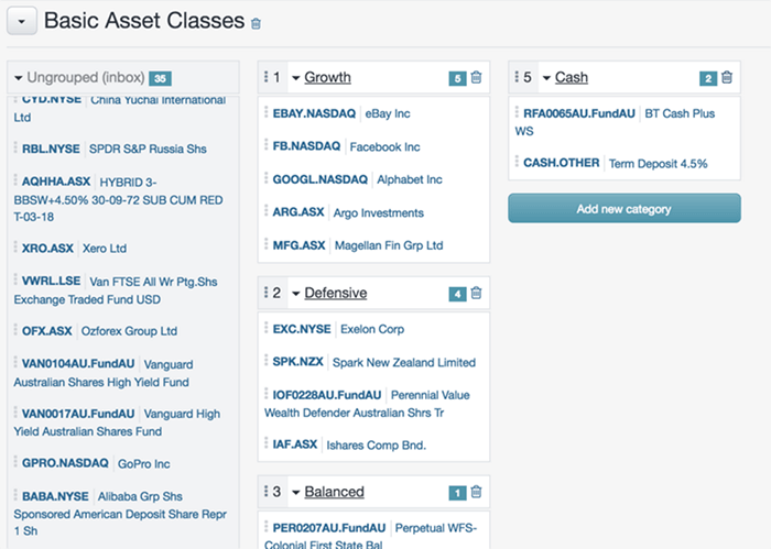 Asset Allocation Reporting in Sharesight