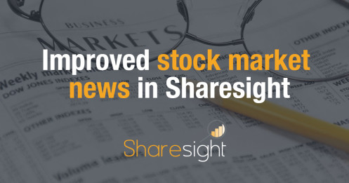 Improved stock market news in Sharesight