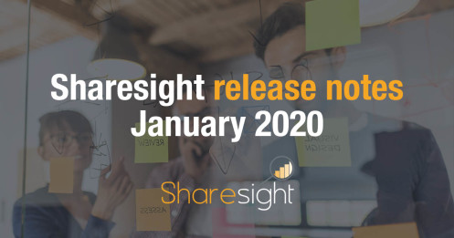 Sharesight release notes Januaary 2020