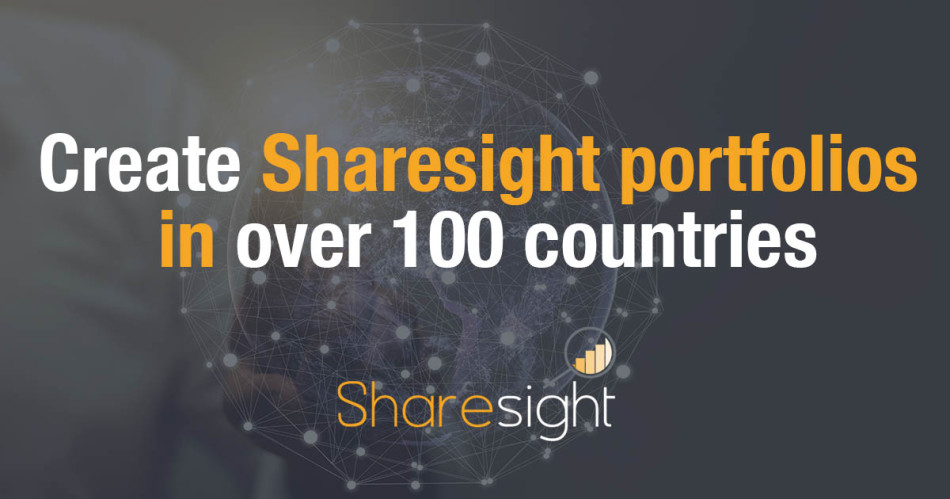 Create Sharesight portfolios in over 100 countries