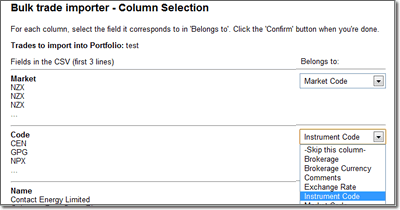 Column Selection