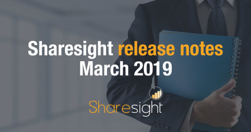 Sharesight Release Notes March 2019