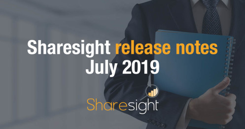 Sharesight Release Notes July 2019
