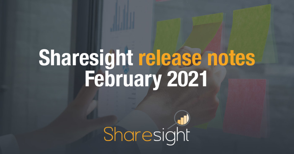 Sharesight Release Notes February 2021