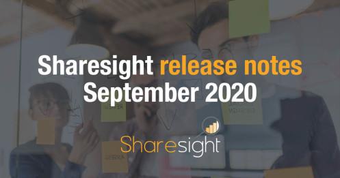 Release Notes September 2020
