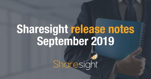 Release Notes September 2019