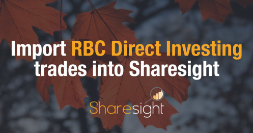 Sharesight RBC direct investing