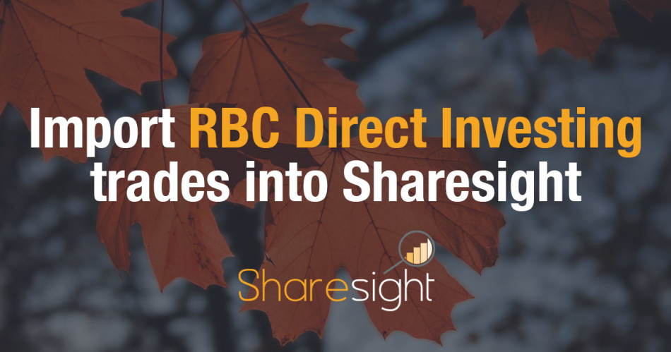 Sharesight RBC direct investing