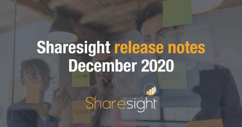 Release Notes December 2020