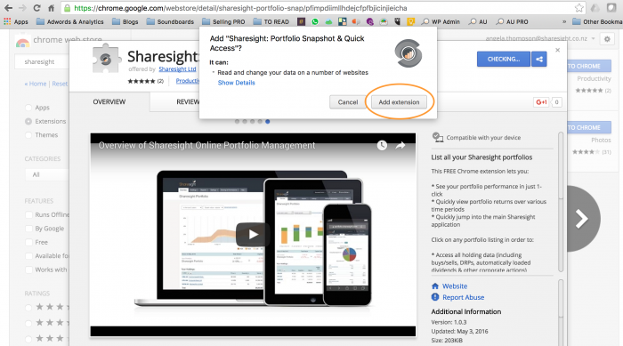 Sharesight Chrome Extension 3