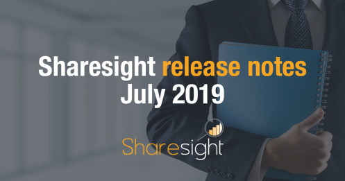 Sharesight release notes - July 2019