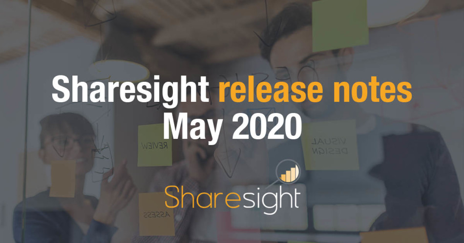 Sharesight release notes May 2020